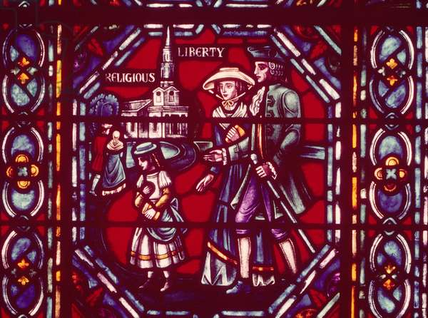 Religious Liberty, stained glass window
