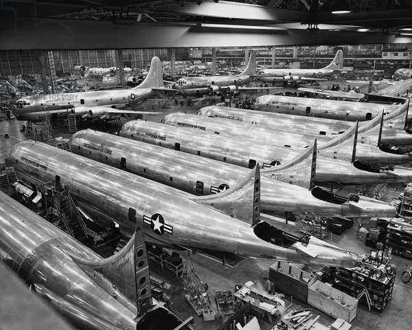 Interiors of an airplane factory, Boeing, Renton, Washington State, USA