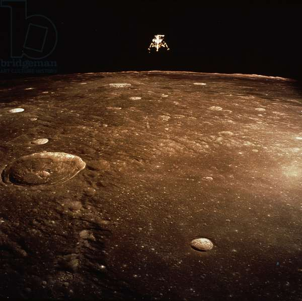Satellite landing on the moon surface, Apollo 11 Lunar Module