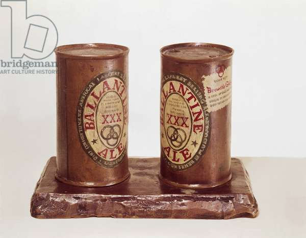 Painted Bronze II: Ale Cans, 1964 (painted bronze)