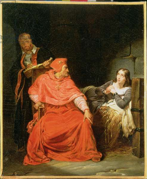 Joan of Arc (1412-31) Interrogated by the Cardinal of Winchester, c.1824 (oil on canvas)