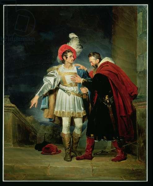Rodrigo de Vivar, 'El Cid' (c.1043-99) and his father, Don Diego, c.1827 (oil on canvas)
