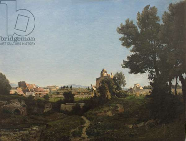 View of Rome from the Palatine Hill, 1865 (oil on canvas)