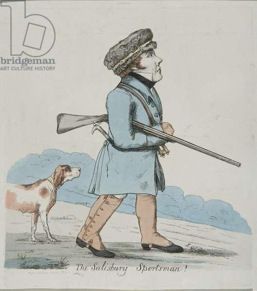 The Salisbury Sportsman (engraving & w/c on paper)