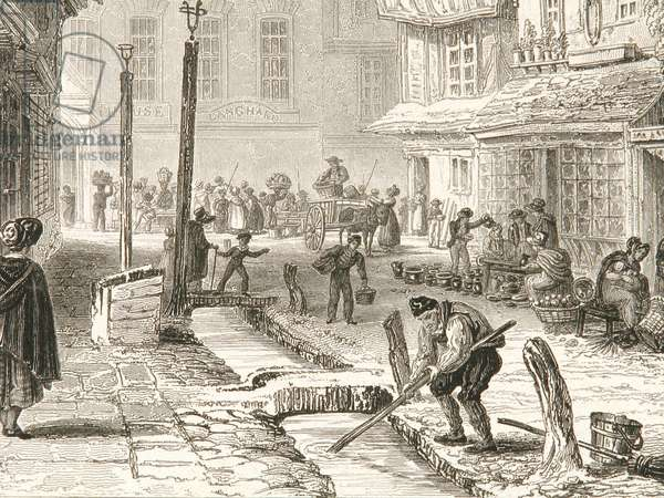 Minster Street in 1829 (engraving)