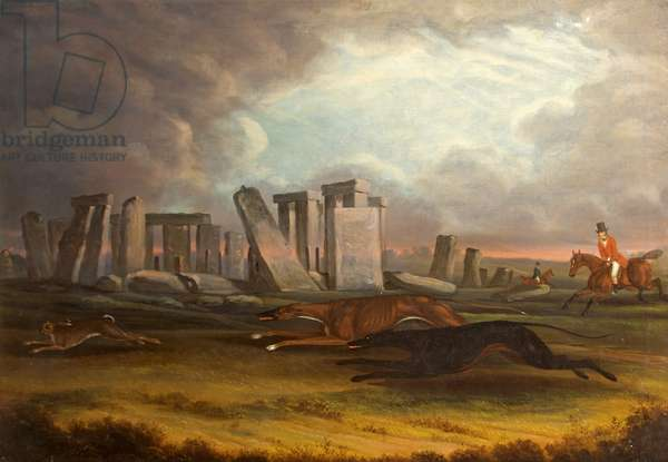 Coursing at Stonehenge, Wiltshire, 1817 (oil on canvas)