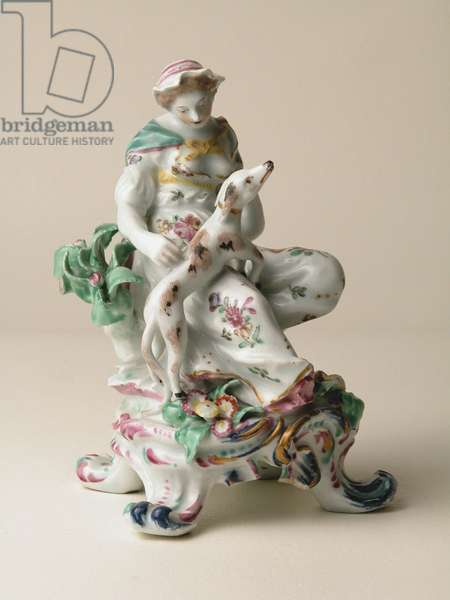 Fine porcelain figure representing the sense 'Touch', 1760s (porcelain)