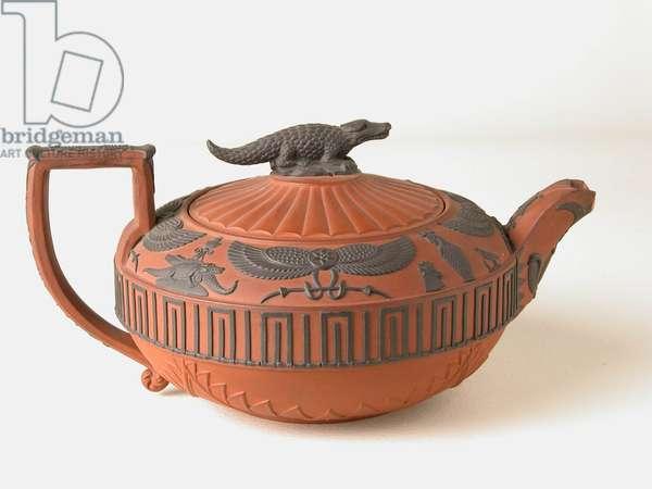 Egyptian Style Teapot, c.1850 (stoneware)