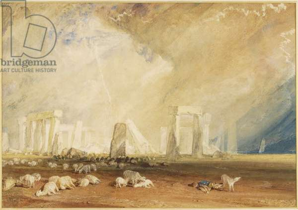 Stonehenge during a Storm (w/c on paper)