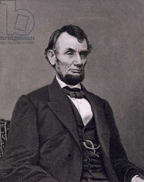 Abraham Lincoln, engraved from a photograph by William G. Jackman (engraving)