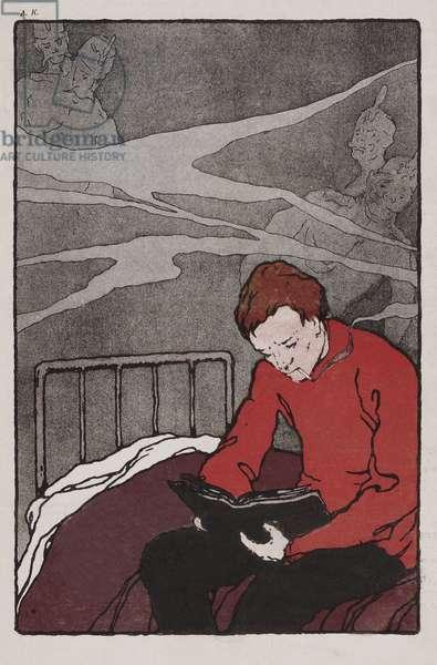 Illustration from Leshii,  Issue 2, pub. St. Petersburg, 1906 (colour litho)