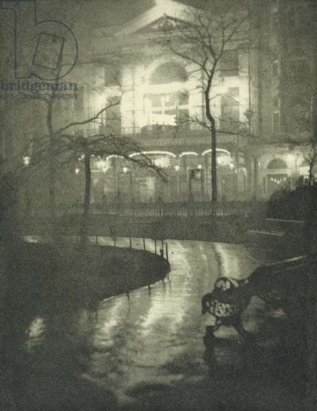 Leicester Square, from the limited edition portfolio 'London' published 1909 (photogravure)