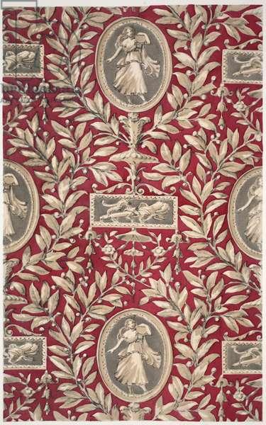 Pergolesi Medallion, pub. 1933 (colour litho)