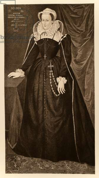 Mary Queen of Scots (1542-1587), from 'James I and VI', printed by Manzi Joyant & Co. Paris, 1904 (collotype)