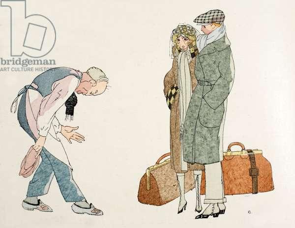 Returning home from the Honeymoon (pochoir print)