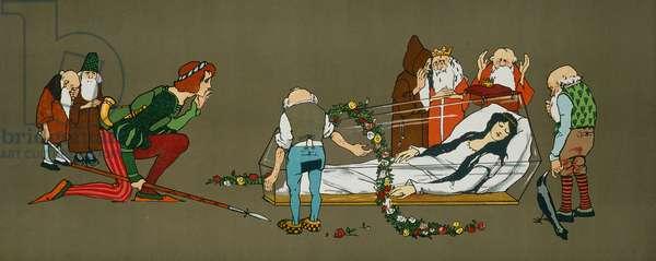 Snow White in the Glass Coffin, c.1912 (block print)