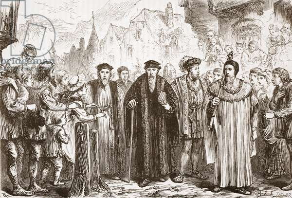 Calvin re-enters Geneva, illustration from 'The History of Protestantism' by James Aitken Wylie (1808-1890), pub. 1878 (engraving)