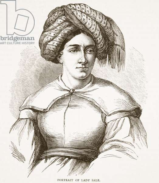 Portrait of Lady Sale, illustration from 'Cassell's Illustrated History of England' (engraving)