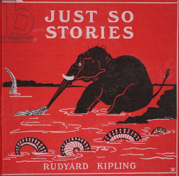 Front cover from 'Just So Stories for Little Children' by Rudyard Kipling, 1951 (colour litho)