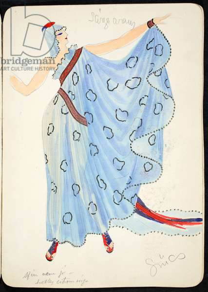 Costume, 1928 (w/c on paper)