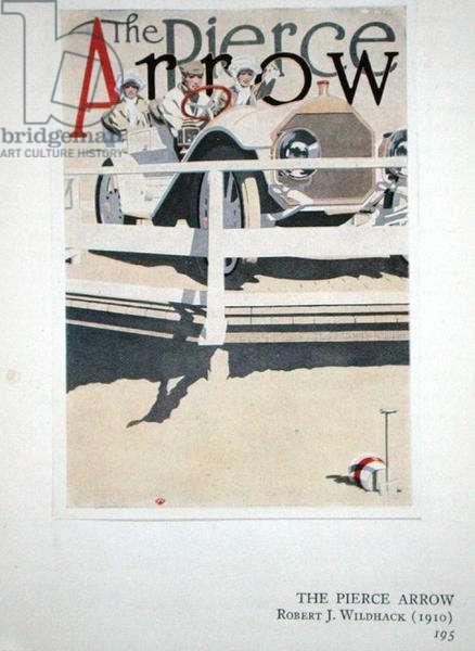 The Pierce Arrow, 1910 (colour litho)