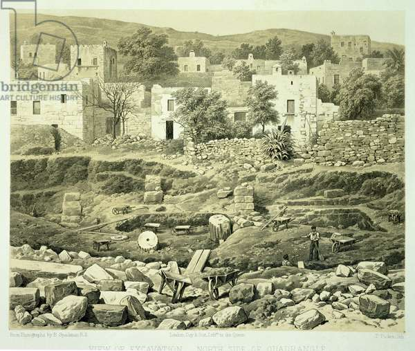 View of Excavation, from 'A History of Discoveries at Helicarnassus, Cnidus, & Branchidae', by Charles Thomas Newton (1816-94) published 1862 (litho)