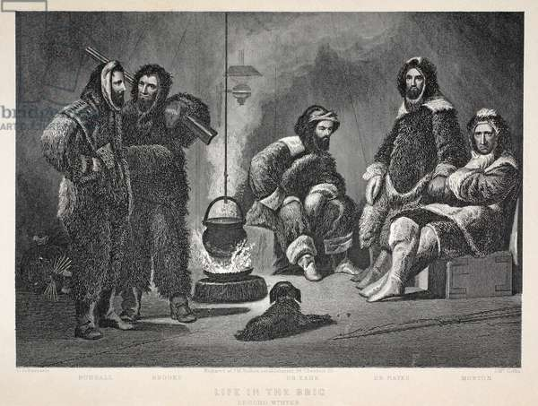 Life in the Brig, illustration from 'The second Grinnell Expedition in Search of Sir John Franklin...', 1856 (engraving)