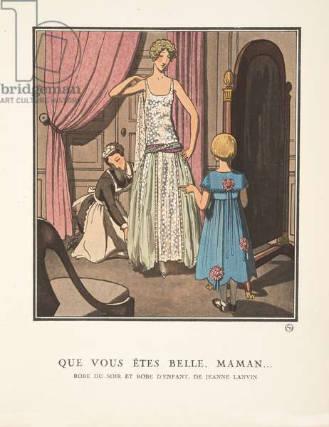 Que Vous êtes Belle, Maman ….., from a Collection of Fashion Plates, 1922 (pochoir print)