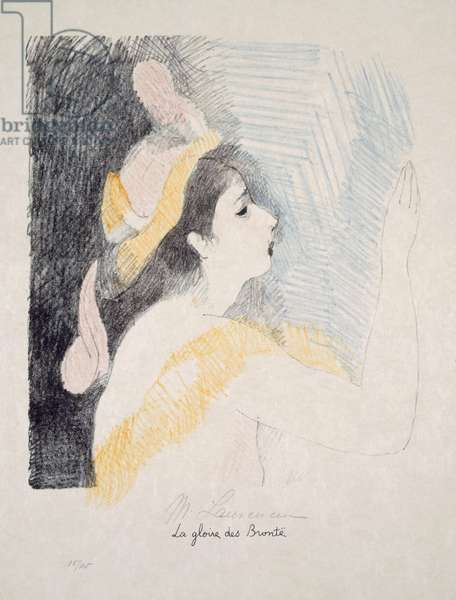 The Fame of the Brontes, illustration from 'The Bronte sisters: Daughters of the wind', by Rene Crevel (1900-35) 1930 (colour litho)