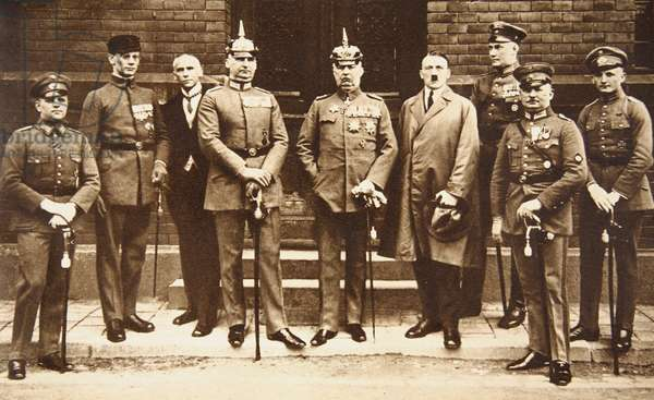 Munich Putsch trial, 1923 (sepia photo)