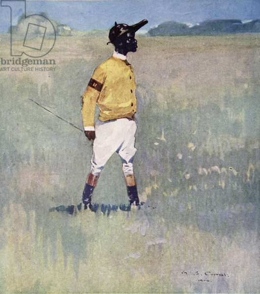 A Jockey at Cumberland Pen, Jamaica, from a portfolio of privately printed watercolours of 'The West Indies' (colour litho)