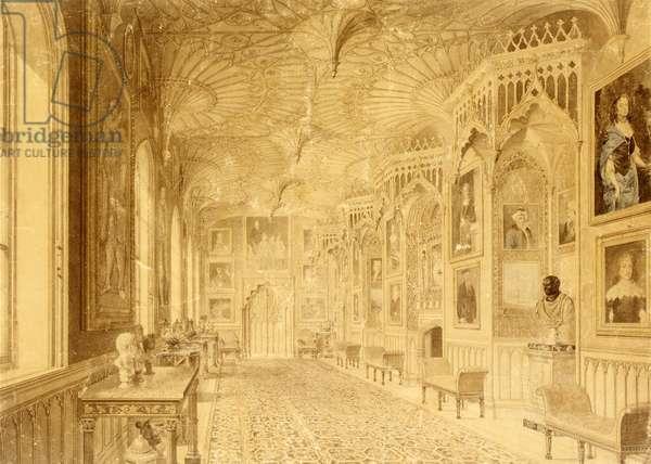 Long Gallery at Strawberry Hill, Twickenham (print)