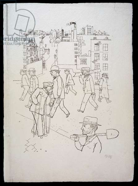 War Invalids and Workers, from 'In the Shadows' portfolio, published 1921 (photolitho)