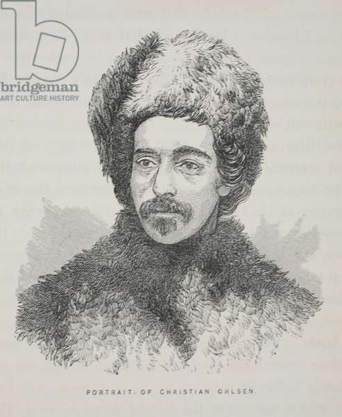 Portrait of Christian Ohlsen, illustration from 'The second Grinnell Expedition in Search of Sir John Franklin...', 1856 (engraving)
