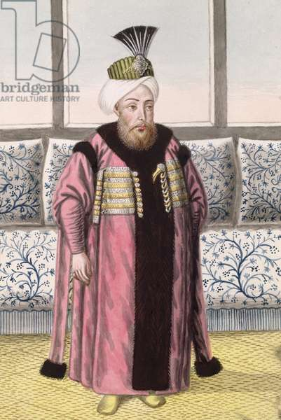 Mustapha II (1664-1703) Sultan 1695-1703, from 'A Series of Portraits of the Emperors of Turkey', 1808 (w/c)