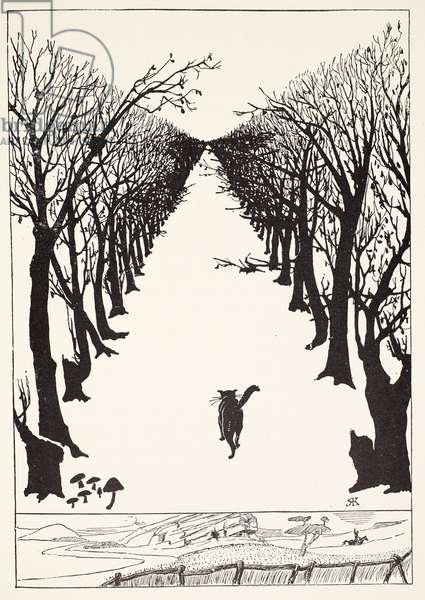 The Cat that Walked by Himself, illustration from 'Just So Stories for Little Children' by Rudyard Kipling, pub. London, 1951 (litho)
