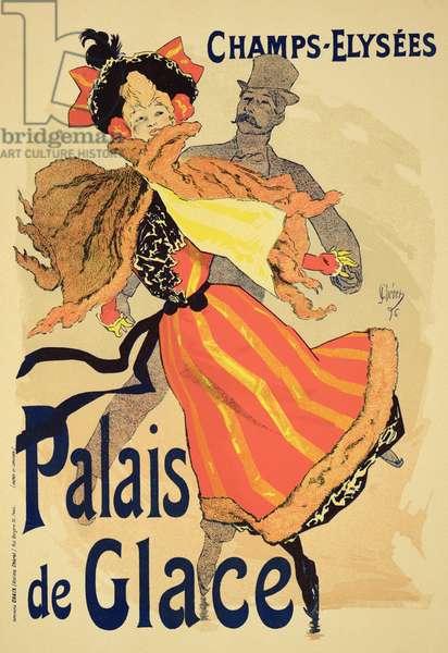 Reproduction of a poster advertising the 'Palais de Glace', Champs Elysees, Paris, 1896 (colour litho)