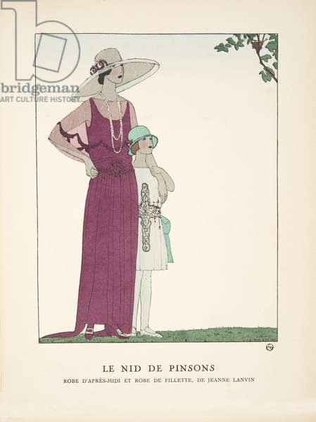 Le Nid de Pinsons, from a Collection of Fashion Plates, 1922 (pochoir print)