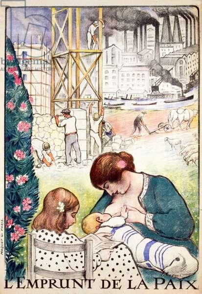 L'Emprunt de la Paix pub. Paris c.1918 (colour lithograph)