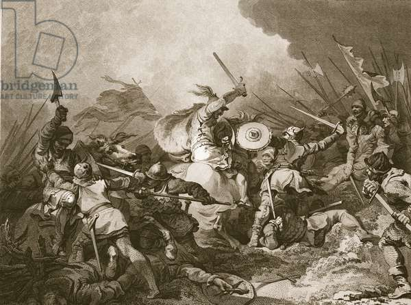 The Battle of Hastings (litho)