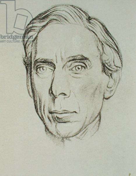 Portrait of Bertrand Russell (1872-1970) (litho)