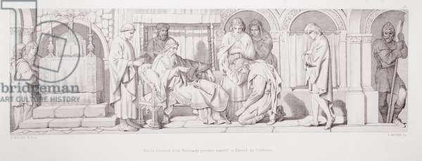 Harold, returned from Normandy, presents himself to Edward the Confessor, from 'The Story of the Norman Conquest', engraved by L. Gruner, 1866 (litho)
