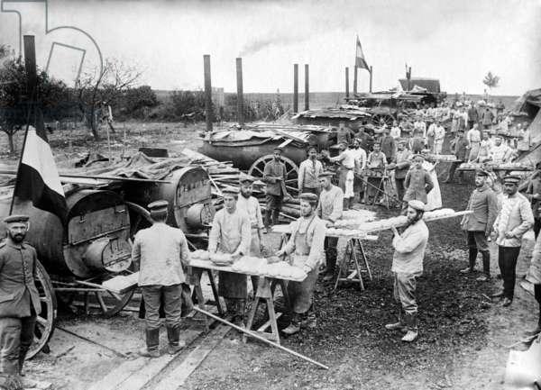 German Field Bakery, c.1914 (b/w photo)