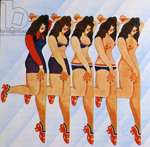 Nude Models, from 'Carnaby Street' by Tom Salter, 1970 (colour litho)