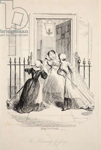 The Morning Gossip,from The Greatest Plague of Life, pub. 1847 (engraving)