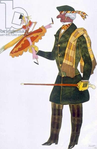 Costume for the Englishman, from La Boutique Fantastique, 1917 (colour litho)