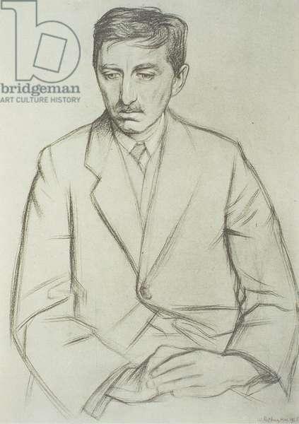 Portrait of E.M. Forster (1879-1970), 1923 (litho)