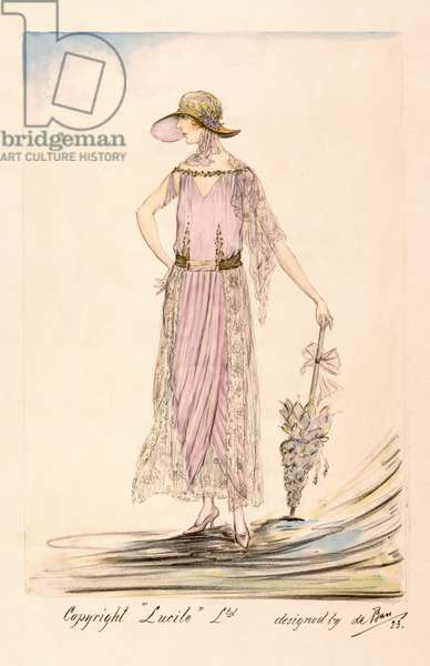 A day dress, 1923 (colour litho)