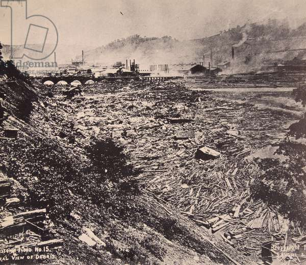 The Johnstown Flood disaster of the 31st May, 1889 (b/w photo)