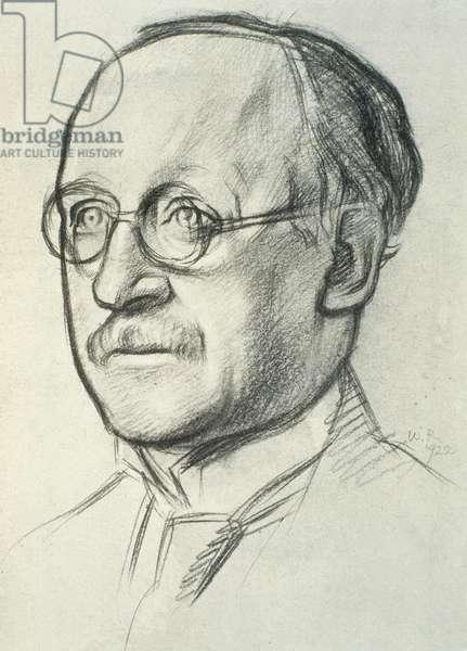 Portrait of Edwin Lutyens (1869-1944), 1922 (litho)